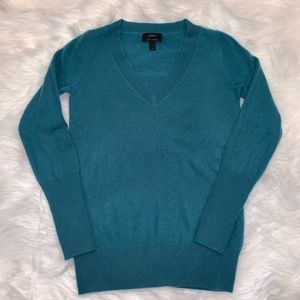 J.Crew Teal V-Neck Cashmere Sweater  XS